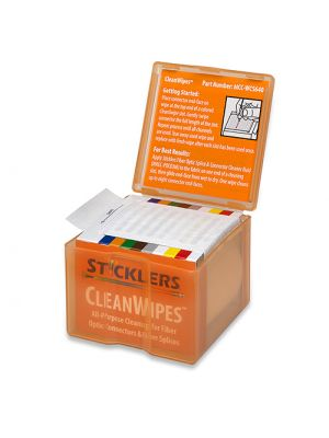 Sticklers MCC-WCS640 CleanWipes 640 for Fiber End-Faces, 80/Box