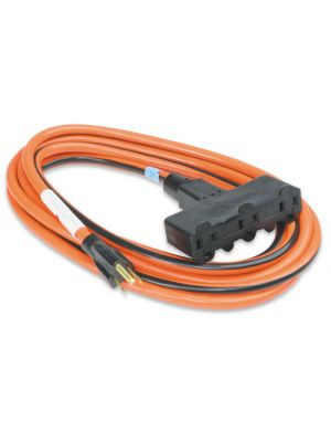 Mid-State TC-154 Triple-Connector 3-Wire Extension Cord, 15'