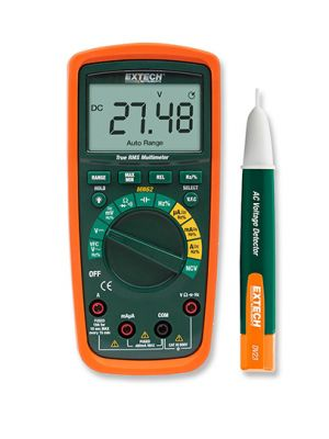 Extech MN62-K True RMS Multimeter with AC Voltage Detector Kit