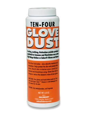 Cementex CPGT-6SB Glove Talc for Insulating Gloves, 6-oz Bottle
