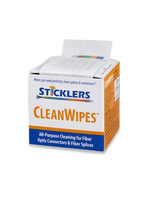 Sticklers MCC-WCS100 CleanWipes 600 for Fiber End-Faces, 100/Box
