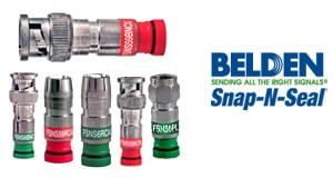 Belden Snap-N-Seal Connectors for RG59 and RG6 Cable