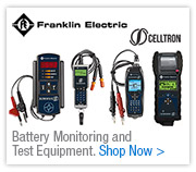 Battery Monitoring and Test Equipment from Franklin Celltron