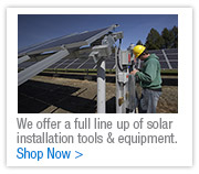 Solar Installation Tools and Equipment