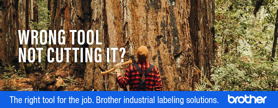 Wrong tool not cutting it? The right tool for the job. Brother industrial labeling solutions.